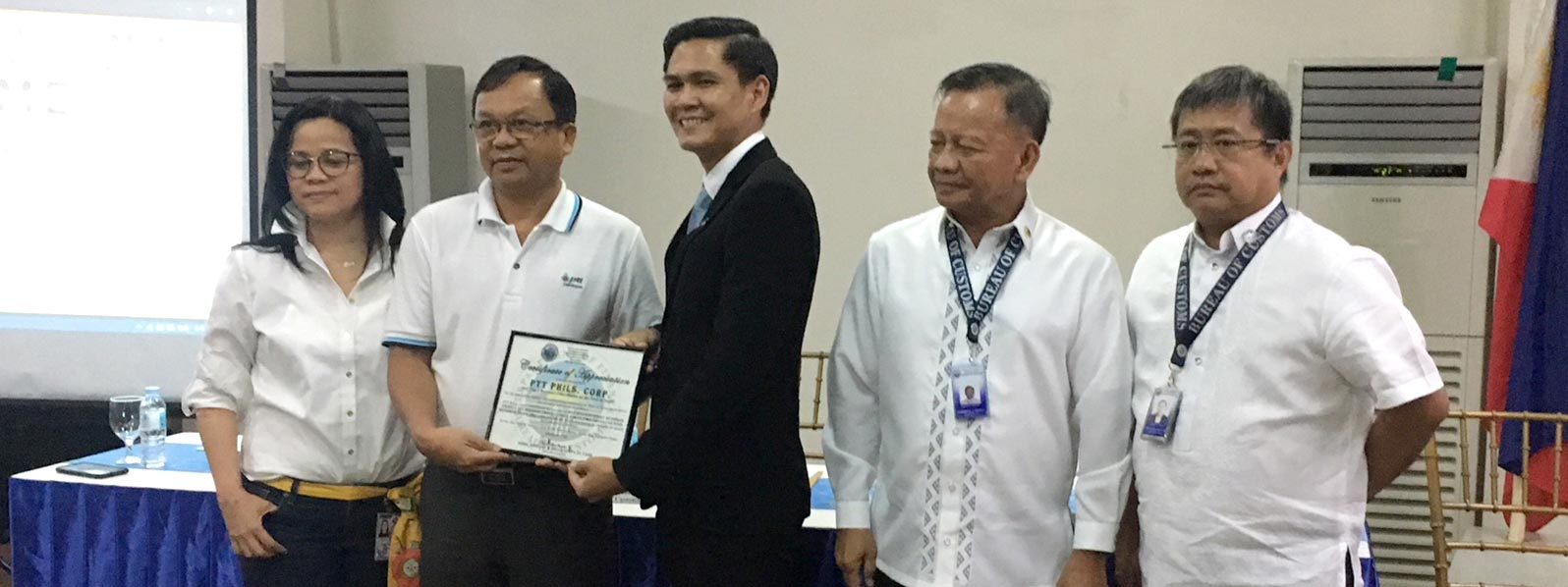 PTT named top taxpayer in Subic Freeport